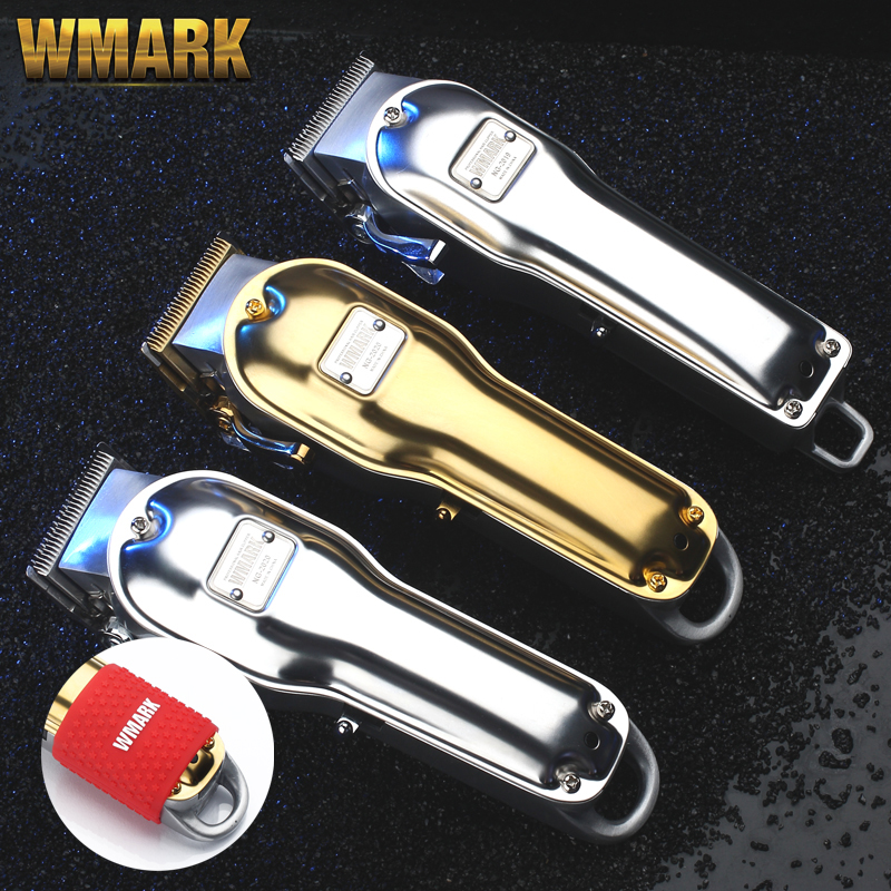 WMARK All-metal Cordless Hair Clipper NG-2019 NG-2020 Electric Hair Trimmer 2500mAh Cordless Hair Cutter Golden Color