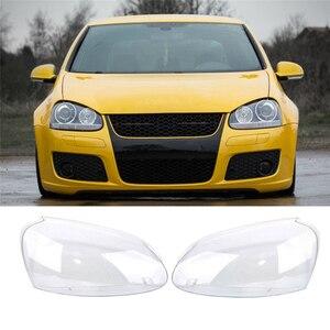 Image 2 - Far camı VW GOLF 5 için MK5 2005 2006 2007 2008 2009 araba ışıkları far kafa lambası kapağı yedek cam far camı
