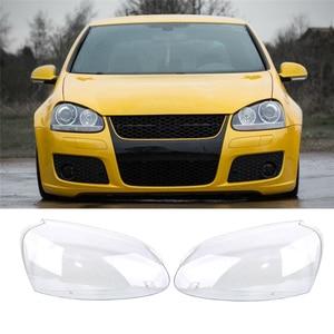 Image 2 - Soczewki reflektorów dla VW GOLF 5 MK5 2005 2006 2007 2008 2009 światła samochodowe reflektor lampa czołowa pokrywa wymiana szkło soczewki reflektorów