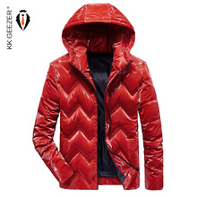 Winter Jackets Down Men New 2019 Thick Warm Red Windbreak Solid Color