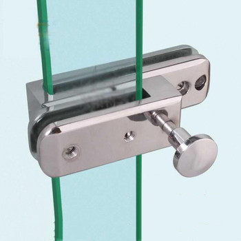 1pc szklane bezramowe zamek meblowy do szafki ze stopu cynku Push przesuwne prezentacja wanna kabina prysznicowa Hasps dla 10mm grube szkło sprzęt meblowy tanie i dobre opinie CN (pochodzenie) POWLEKANE ELEKTROLITYCZNIE Door Hasps Door Hardware Zinc Alloy Door Hasps Glass Door Hasps glass door knob with lock