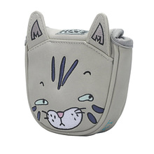 Golf Putter headcover Magnetic Closure for center-shaft Club cove Cartoon cat free shipping