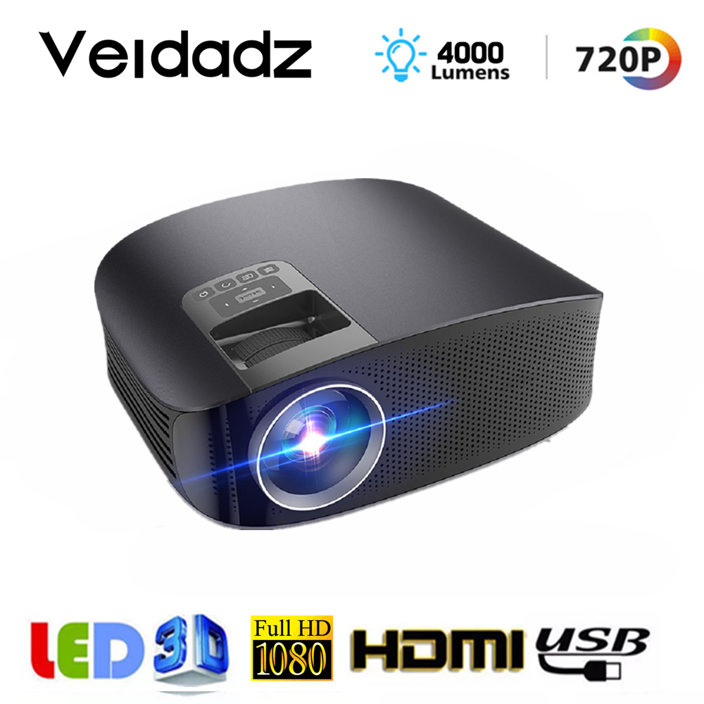 Mini 1080P FHD Tragbar Projektor Beamer Theater Multimedia USB AV HDMI Video VGA