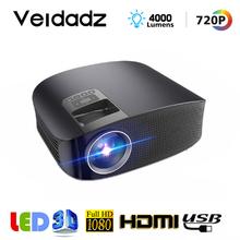VEIDADZ YG600 HD Projektor LCD statek Unterstützung Full HD 1080P YG610 Heimkino HDMI VGA wideo USB Tragbare LED projektor tanie tanio Instrukcja Korekta Mini Ue wtyczka Us wtyczka Au plug Wtyczka uk 16 09 135W Focus System multimedialny 1280x768 dpi 4000 Lumenów