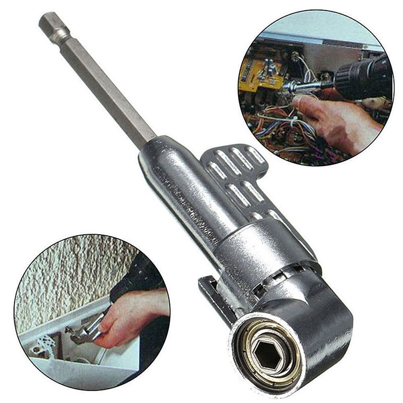 Multi-function 105 Degree Curved Screwdriver Corner Screwdrivehead Turn Joint With Handle Drill Bit Screw Tool Accessory