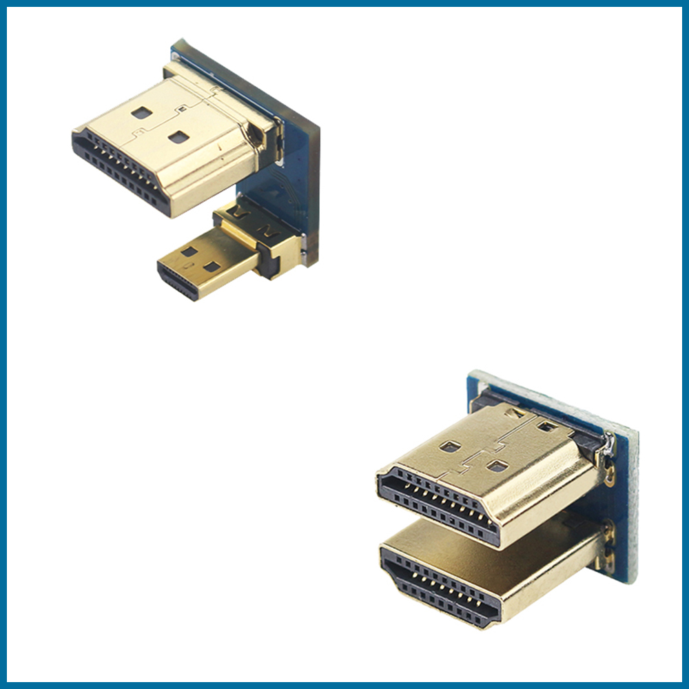 S ROBOT 1080P HDMI To Micro HDMI Converter Male To Male Adapter For Raspberry Pi 3/4 HDMI LCD Touchscreen Display RPI131