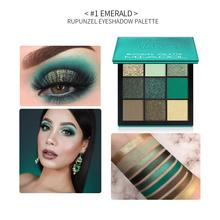 MIAOOL Beauty Precious Stone Mini Eyeshadow Palette 9 Colors Obsessions Emerald Makeup Eye Shadow