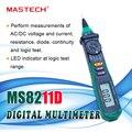 Цифровой мультиметр MASTECH MS8211D с автоматическим диапазоном  измеритель типа ручки  цифровой тестер напряжения  тестер логического уровня