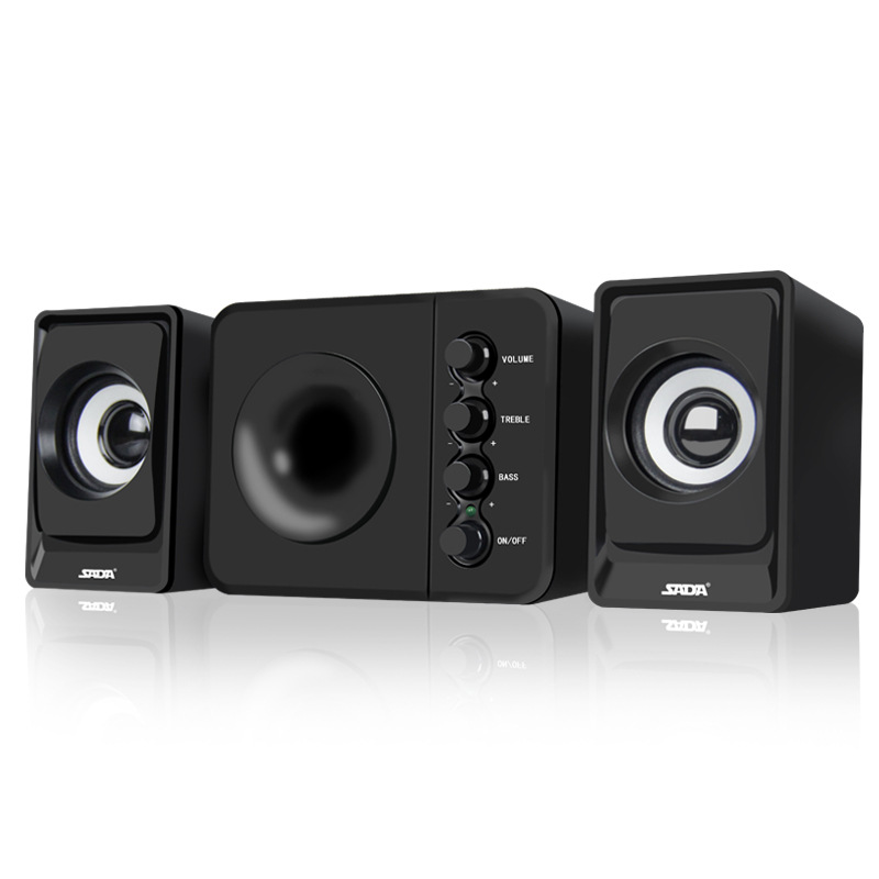 Wired Combination Computer Speaker Subwoofer Music Movies Multimedia PC Gaming Systems AUX USB 2.1 Sound Box Bass Speakers