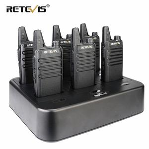 Image 1 - جهاز اتصال لاسلكي صغير مفيد 6 قطعة Retevis RT622 PMR راديو RT22 FRS لاسلكي الاتصال + شاحن بستة اتجاهات مطعم الفندق سوبر ماركت