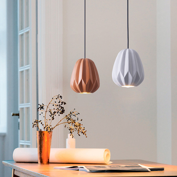 Nordic restaurant Pendant Lights modern simple personality creative bedroom resin single head bedside small Pendant Lights