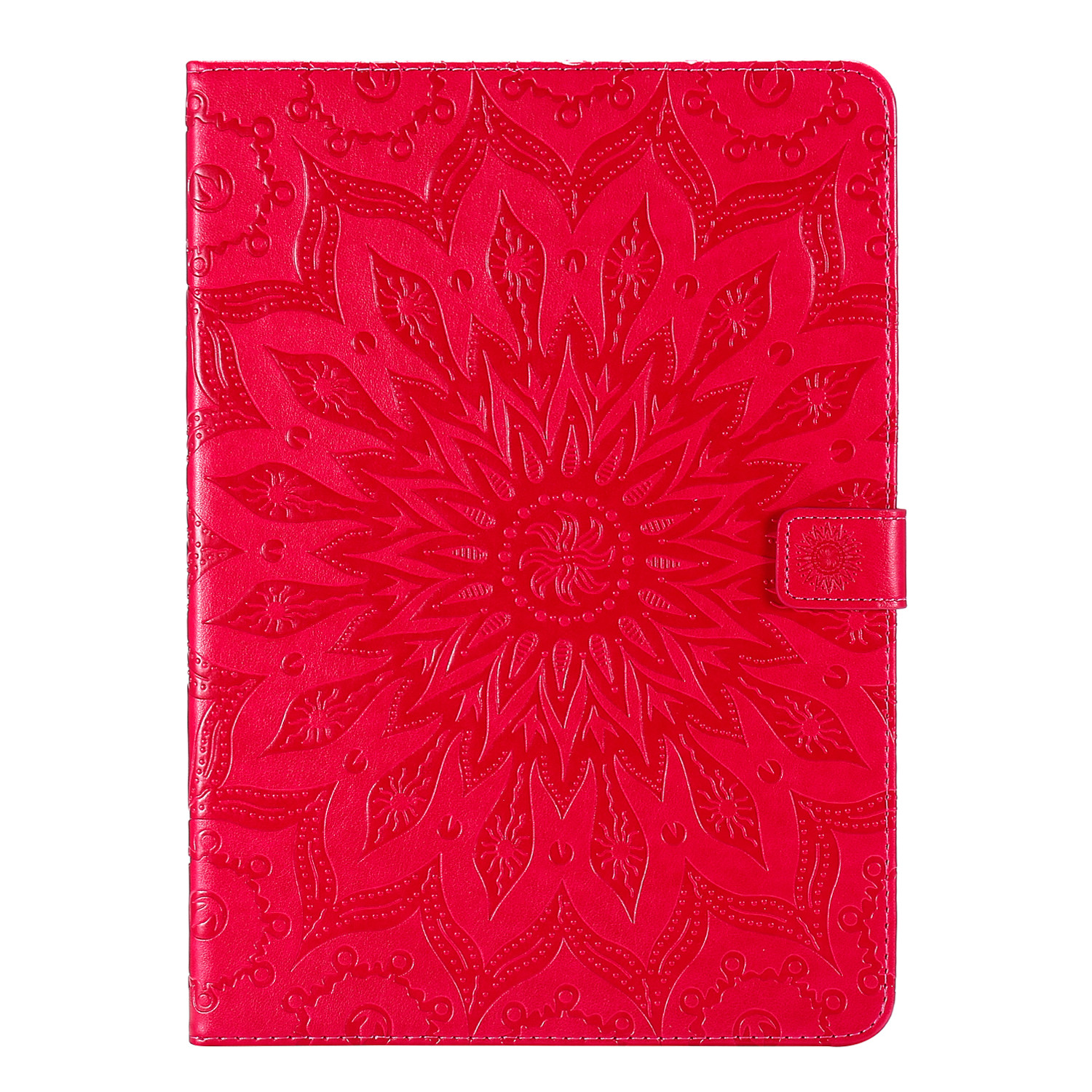 8 Beige Flower 3D Embossed Cover for iPad Pro 12 9 Case 2020 Leather Protective Shell Skin for