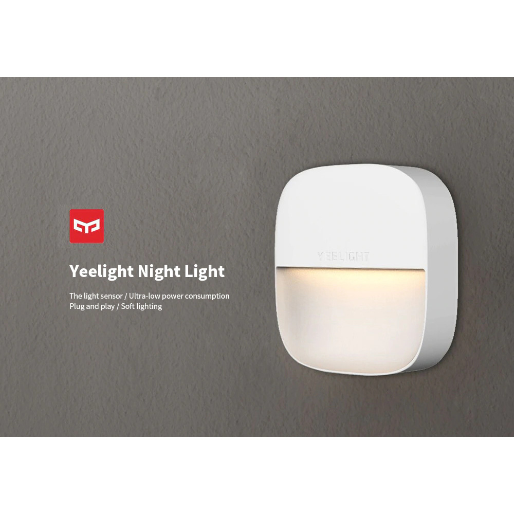 220V  Xiaomi Mijia Yeelight YLYD09YL Square Light-controlled Smart Sensor Night Light Gift Xiaomi Ecological Chain Product