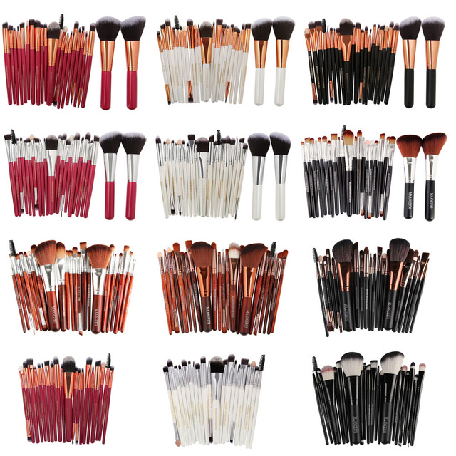 20/22Pcs Beauty Makeup Brushes Set Cosmetic Foundation Powder Blush Eye Shadow Lip Blend Make Up Brush Tool Kit MENGSHANG MAANGE 5