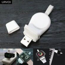 URVOI зарядное устройство для Apple Watch series 5 4 3 2 1, беспроводной держатель, портативная зарядка, удобная Магнитная подставка, 1,5 Вт, вход, USB разъем, ремонт