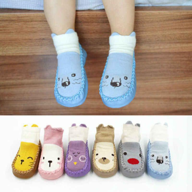 2019 милые детские носки-тапочки для новорожденных; сезон осень-зима; обувь для малышей; Нескользящие мягкие дышащие носки на подошве; Новинка