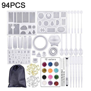 94pcs Silicone Casting Molds a
