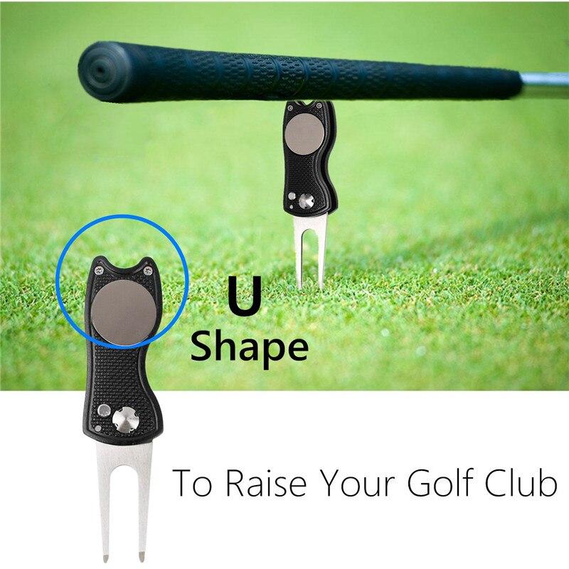 Finger Ten Repair Golf Divot Tool Pitch Putting Green Fork U Shape Groove Cleaner Driving Range Accessories 1 Pc Drop Shipping