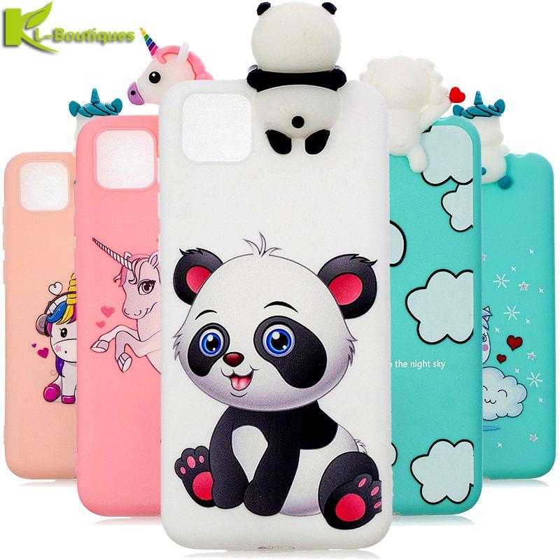 Sprawa dla Funda Huawei Honor 9 S przypadku 3D jednorożec Panda silikonowa pokrywa dla Coque Huawei Honor 9 S 9 S DUA-LX9 Etui na telefony