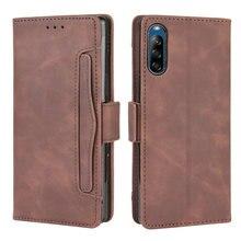 Karte Slot Abnehmbare Leder Flip Fall für Sony Xperia L4 Fall Luxus Brieftasche Telefon Halter für Sony Xpeira L 4 fall Xperia 4L Haut