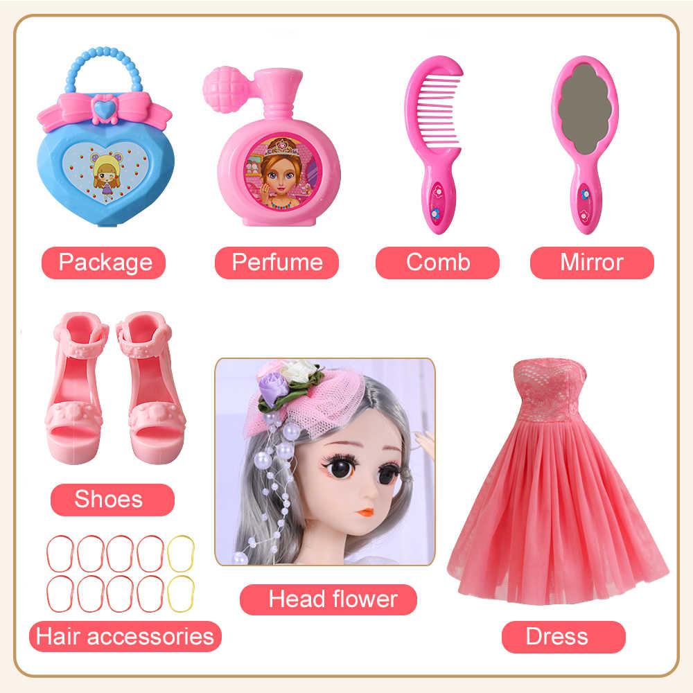 UCanaan 1/4 BJD muñeca 18 bola articulada 45CM SD muñecas con ropa atuendo zapatos peluca maquillaje de pelo mejor regalo para niñas niños Juguetes