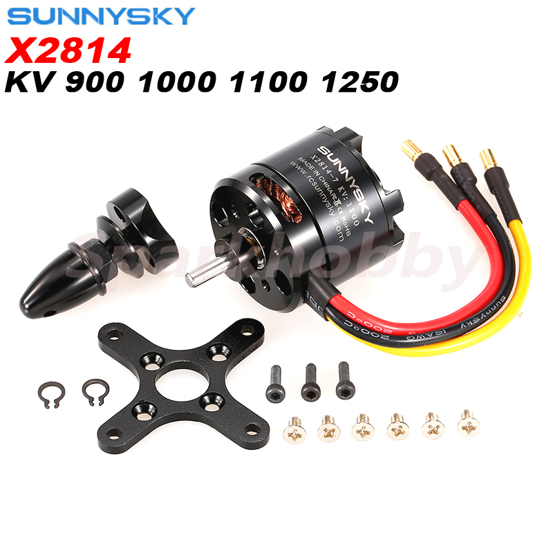 1PC  Original SUNNYSKY X2814 900KV 1000KV 1100KV 1250KV External Rotor Brushless Motor For RC 3D Fixed-wing Aircraft  Airplanes