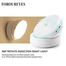 LED Night Light 360 องศาหมุนPIR Motion Sensor 6 LEDsโคมไฟสำหรับตู้เสื้อผ้าตู้เสื้อผ้าตู้เสื้อผ้าห้องครัวNight Light