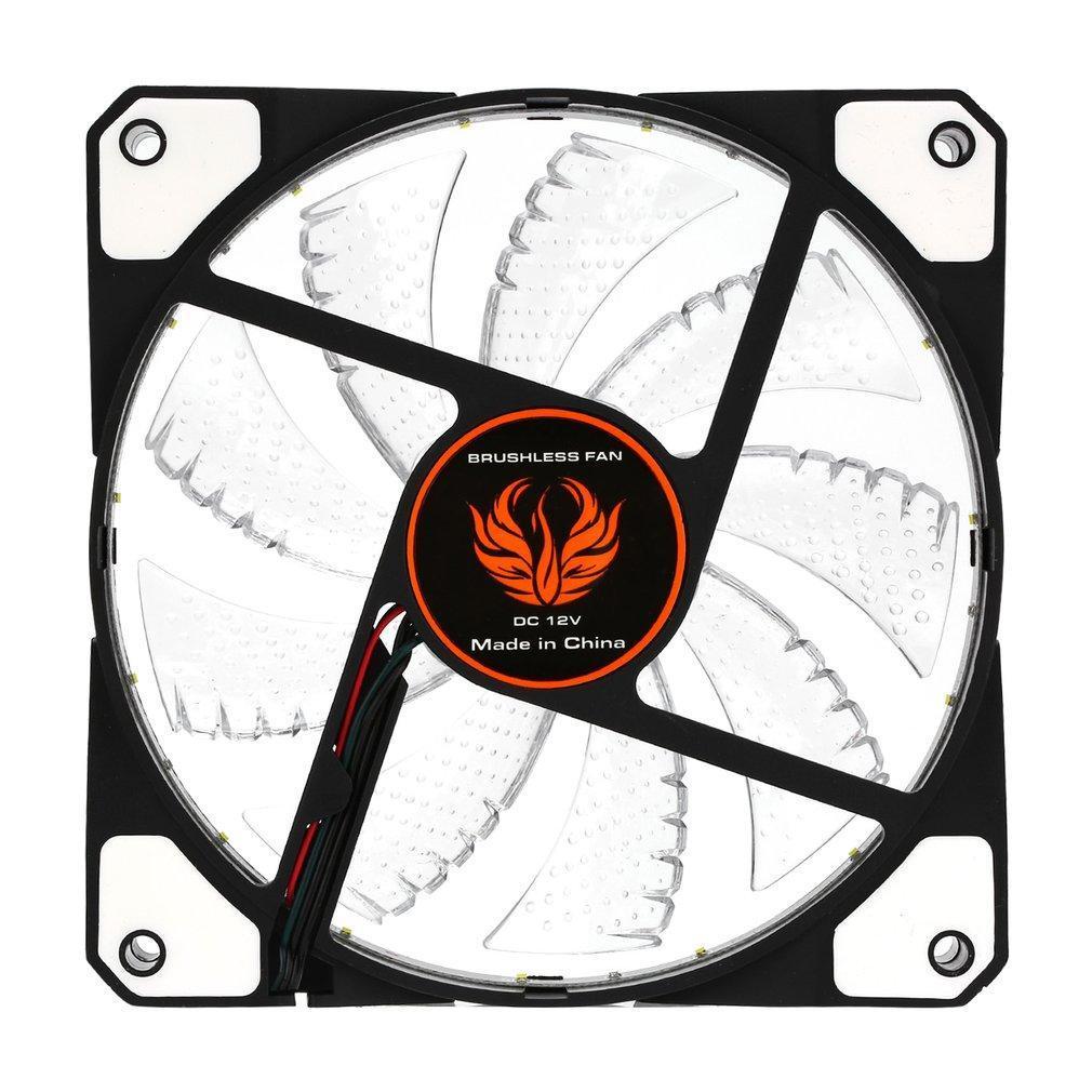 120mm LED Ultra Silent Computer PC Case Fan 15 LEDs 12V Easy Installed XP