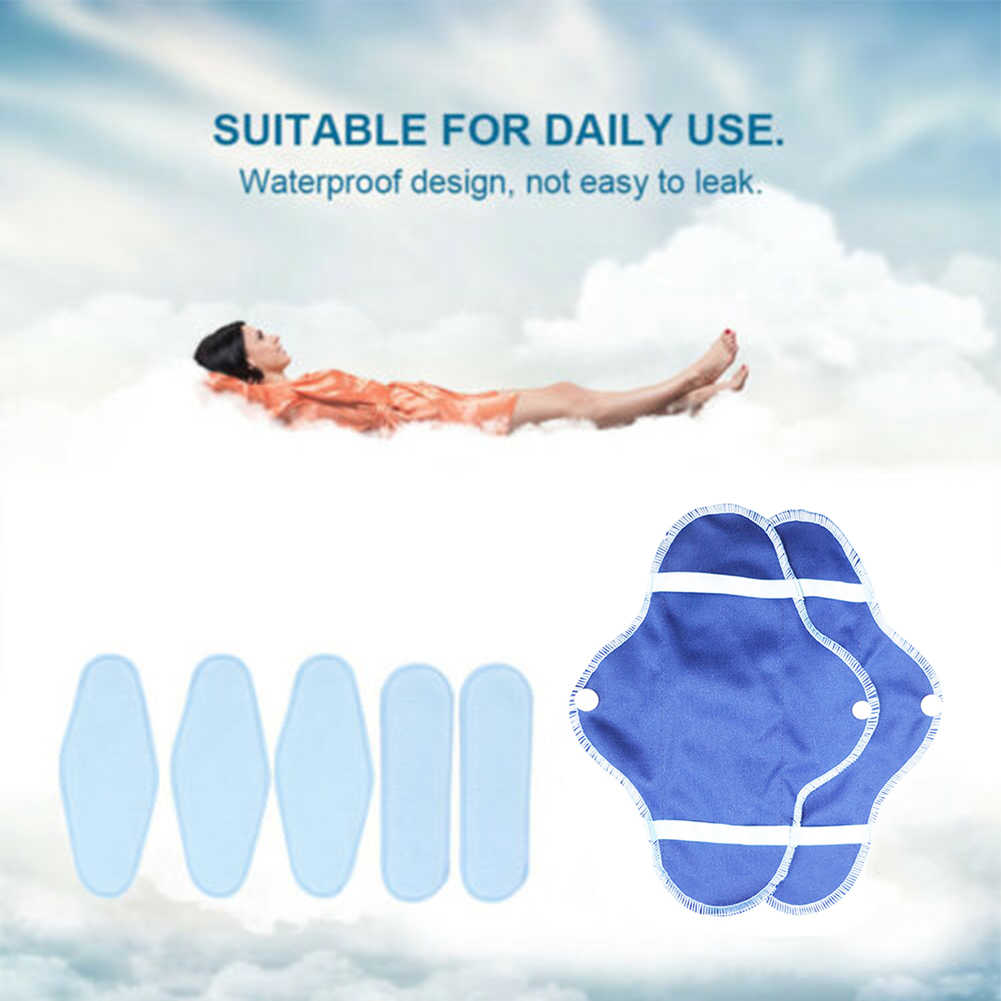 8pcs Women Washable Reusable Polar Fleece Towels Breathable Foldable Soft Hygiene Bag Portable Panty Liners Menstrual Cloth Set