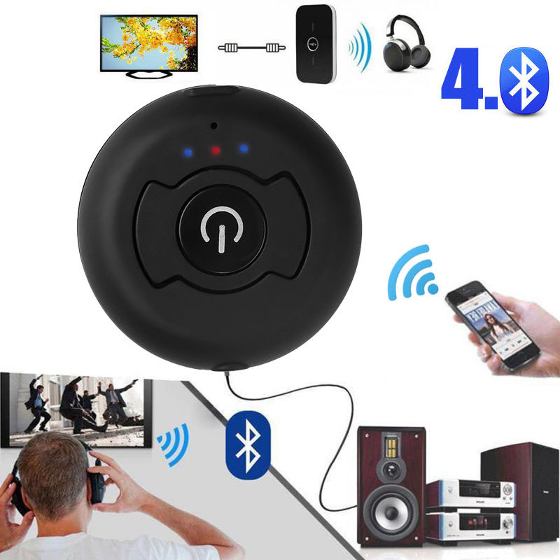 Black CSR 4.0 Dual Bluetooth Audio Transmitter Multi-point Bluetooth 4.0 Audio Transmitter Wireless Adapter For AV TV DVD