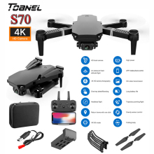 S70PRO 4K HD Dual Camera RC Quadcopter Drone Helicopter with 4K Profesional HD Camera 4K WIFI FPV Foldable Toys