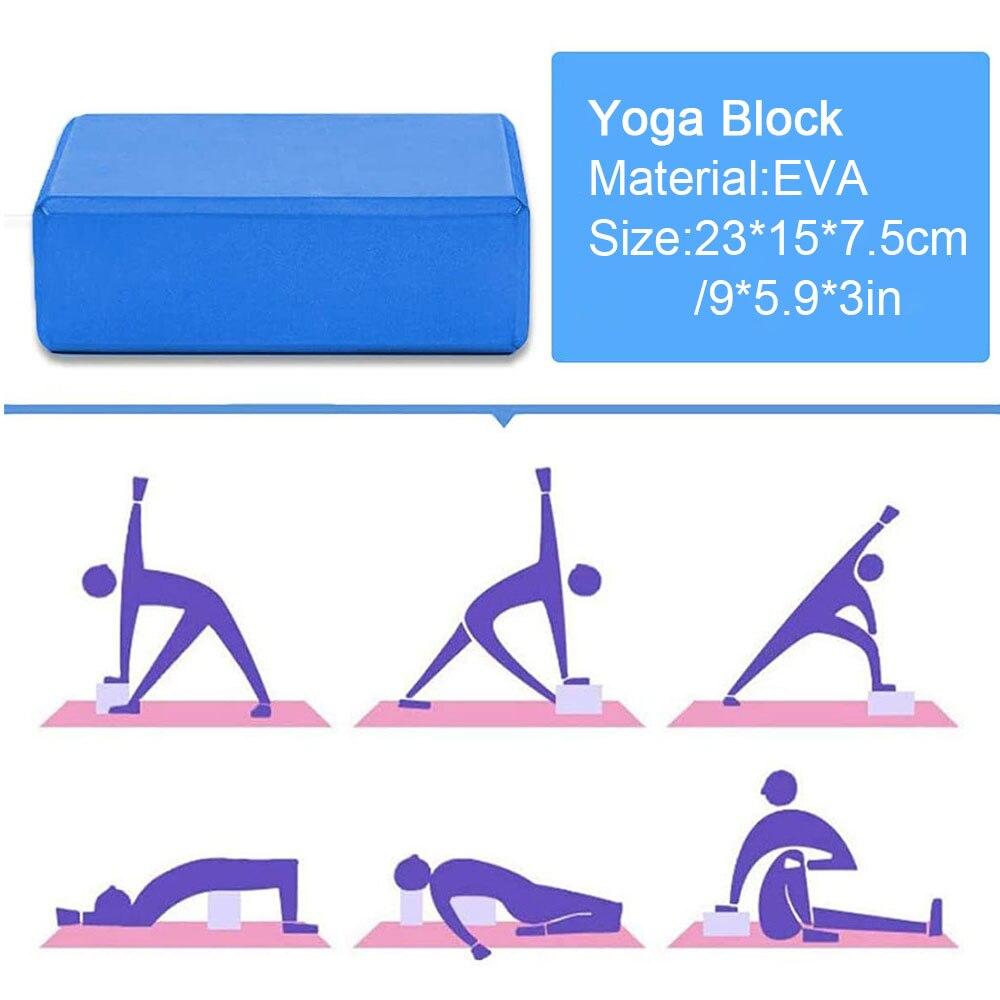 2021 5 pçs conjunto de tijolos yoga