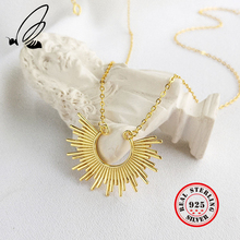 Necklaces Pendants 925 Sterling Silver Boho Gold Chain Necklace Loves Colares Compridos Collana Donna Bijoux Femme Tak? Jewelry