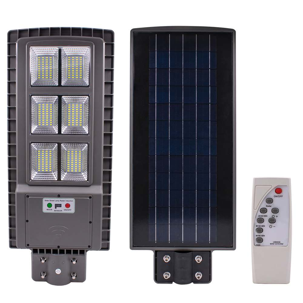 120W Solar Street Light With Remote Control 240 LED Solar Panel Lawn Garden Outdoor Lamps Street Lighting Waterproof IP65
