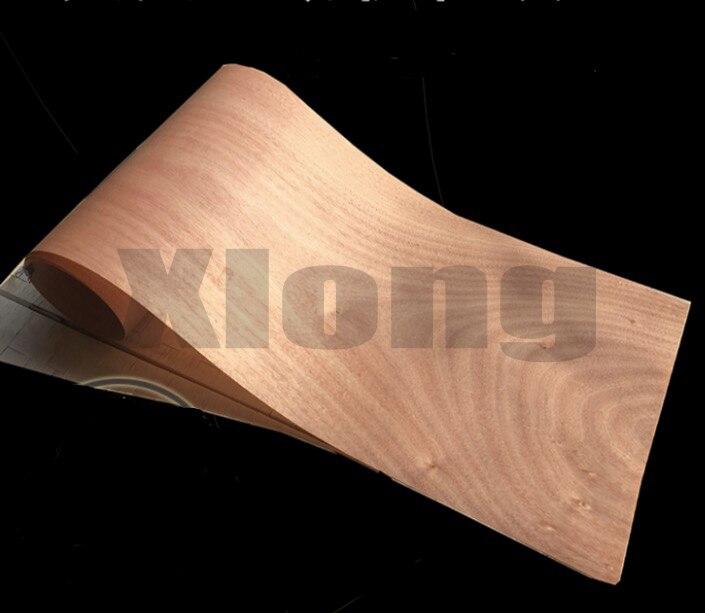 2PCS/LOT L:2.5Meters Wide:25CM Thickness:0.25mm Natural Red Walnut Veneer Decoration Veneer