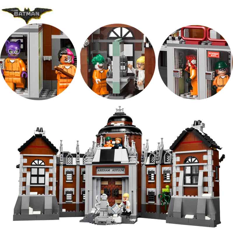 In stock 10741 1706pcs Arkham Asylum Super Hero Series Building Blocks Bricks Children's Christmas gift Compatible with <font><b>70912</b></font> image