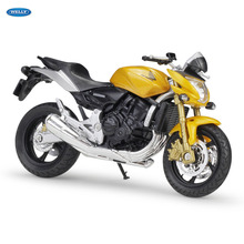 WELLY 1:18    HONDA Hornet     Diecast Alloy Motorcycle Model Toy For Children Birthday Gift Toys Collection цена и фото