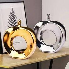 Креативные керамические золотые и серебряные полые яблочные