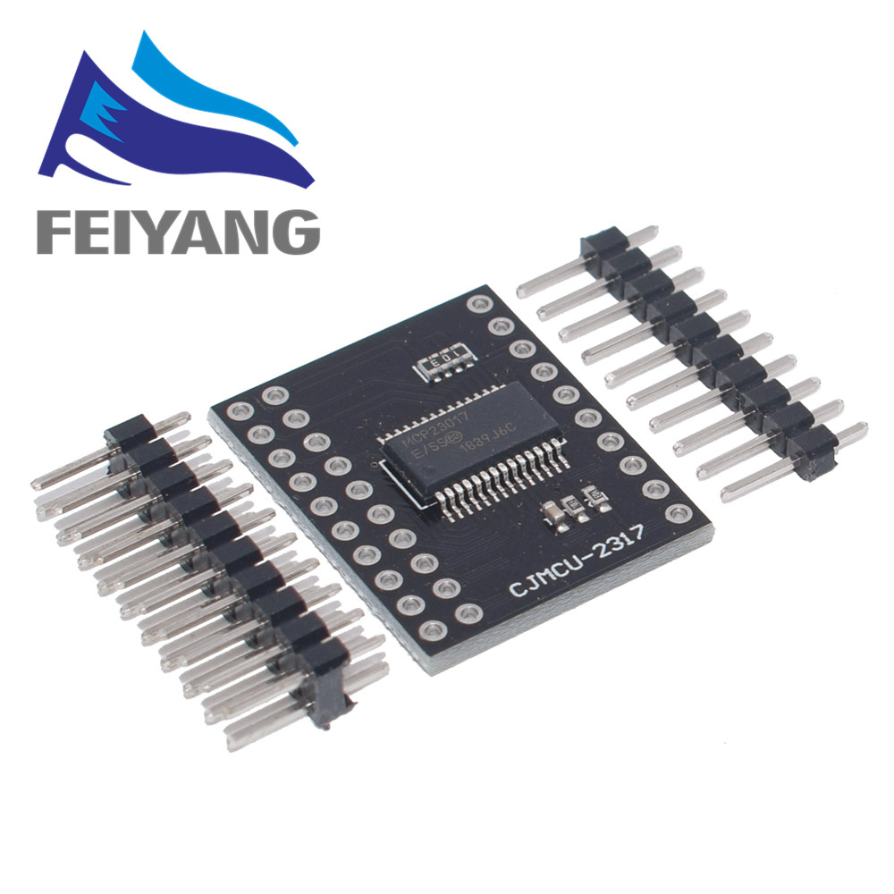 MCP23017 Serial Interface Module IIC I2C SPI MCP23S17 Bidirectional 16-Bit I/O Expander Pins 10Mhz Serial Interface Module