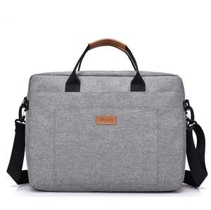 Image 2 - Tuval iş çantası ofis çantaları erkekler için Messenger iş gezisi dosya paketi Laptop çantası Breefcase naylon erkek çanta çalışmak için