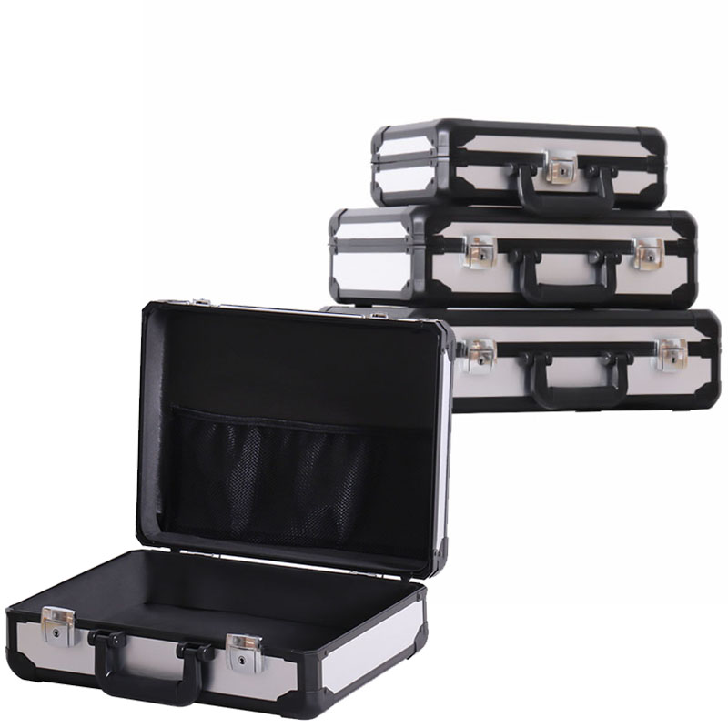 Aluminum Alloy Toolbox Portable Safety Protective Equipment Box File Box Instrument Case Anti-fall Impact Resistance Outdoor Box