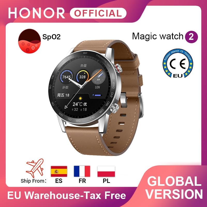 Version mondiale honneur montre magique 2 montre intelligente bluetooth 5.1 Smartwatch oxygène du sang étanche 14 jours coeur Rat pour Android iOS | AliExpress