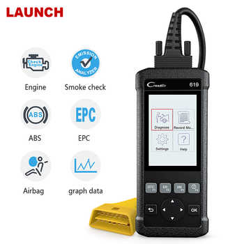 Launch CR619 OBD2 Scanner automotivo Professional Engine ABS SRS Airbag Code reader scan Car Diagnostic Tool OBD 2 Auto Scanner - DISCOUNT ITEM  40% OFF Automobiles & Motorcycles