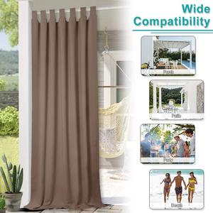 Image 5 - NICETOWN Outdoor Waterproof Curtain Tab Top Thermal Insulated Blackout Curtain Drape for Patio Garden Front Porch Gazebo