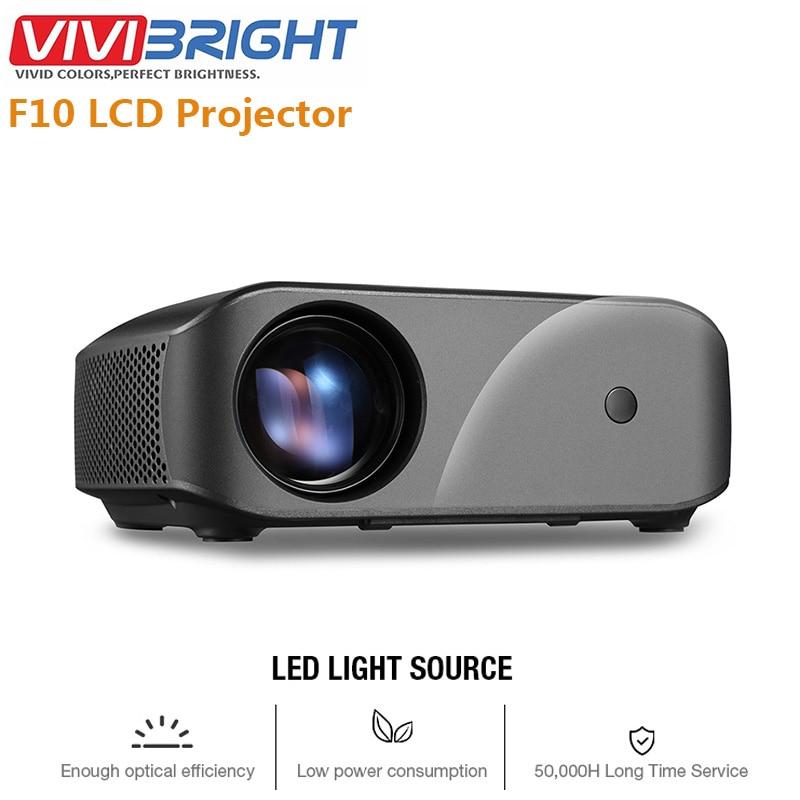 VIVIBRIGHT F10 LCD projecteur 1280x720P Home cinéma divertissement vidéo HDMI USB haut-parleur intégré 2800 lumens projecteurs