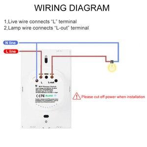 Image 2 - Умный светильник, диммер, стандарт США/ЕС, Wifi, Диммируемый сенсорный переключатель, работает с Alexa Google Assistant IFTTT 110 В 220 В