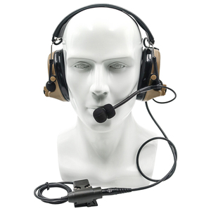 Image 5 - Tactical Comtac ii Airsoft Military Headset Pickup Noise Reduction Headphone Shooting Hunting Hearing Protection DE with U94 ptt