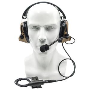 Image 5 - 전술 comtac ii airsoft 군용 헤드셋 픽업 소음 감소 헤드폰 슈팅 u94 ptt가있는 청력 보호 장치