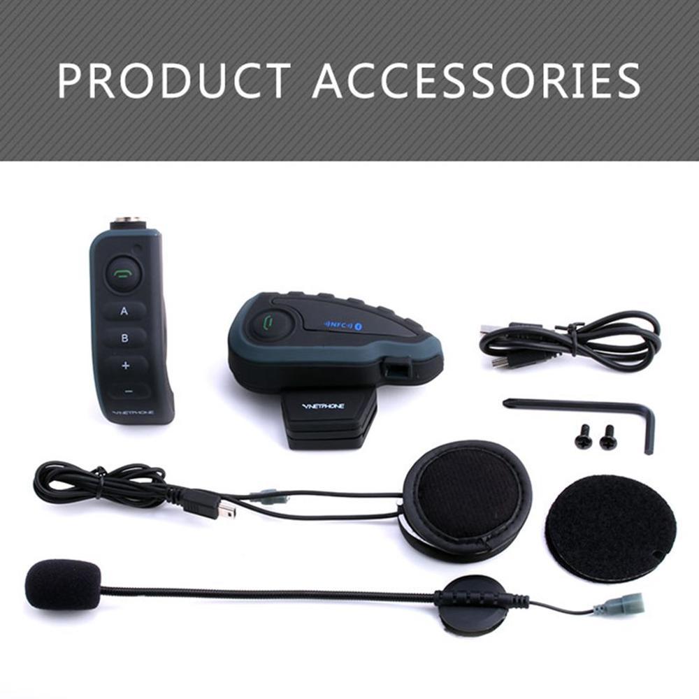 V8 Motorrad Helm Intercom Helm Headset Für Kopfhörer 5 Piloten BT Sprechanlagen FM Radio NFC Fernbedienung USB stecker