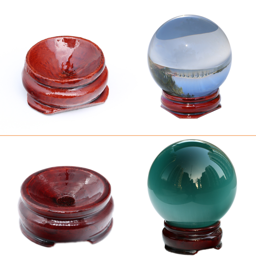 Wooden Display Stand Base For Large Crystal Ball 30/40mm 50mm 60mm 80mm 100mm Big Glass Globe Lensball Magic Sphere Gift Holder